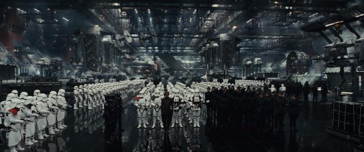 Star Wars: The Last Jedi..First Order hangar..Photo: Lucasfilm Ltd. ..© 2017 Lucasfilm Ltd. All Rights Reserved.